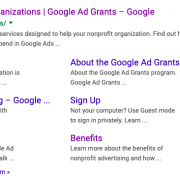 Google Non profit grants